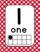 Number Cards 0-20 Red and Black Polka Dot (Ladybug)