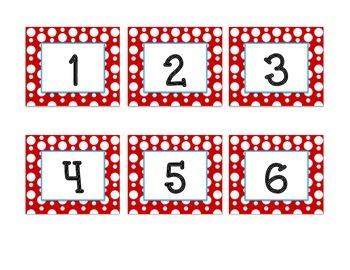 Red and Black Polka Dot Calendar Set