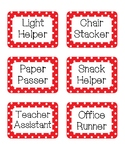 Red and Black Polka Dot Classroom Jobs