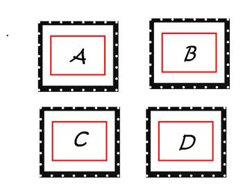 Red and Black Polka Dot Letters (Upper Case)