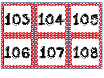 Red and Black Theme Number Squares - For Number Lines and Charts