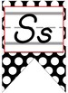Red and Black Themed D'Nealian Print Alphabet Banner