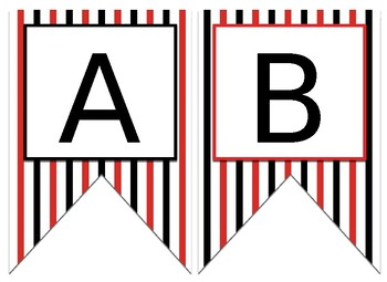 Red and Black Themed EDITABLE Bulletin Board Banner