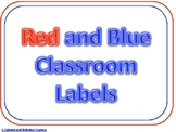 Red and Blue Classroom Labels