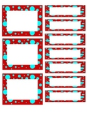 Red and Blue Dot Labels and Name Plate EDITABLE