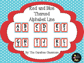 Red and Blue Themed Alphabet Line