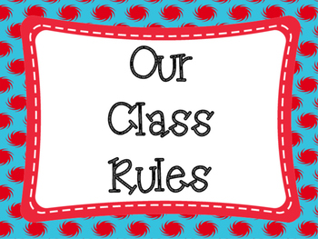 Class Rules: Red and Blue Themed