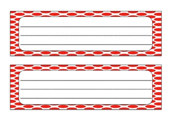 Desk Tags and Calendar Numbers: Red and Blue Themed
