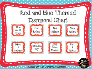 Dismissal Chart: Red and Blue Themed