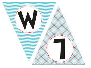 Red and Blue Themed Welcome Banner