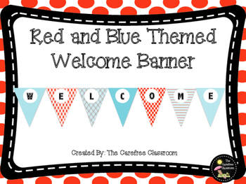Welcome Banner: Red and Blue Themed