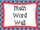 Word Wall Signs: Red and Blue Themed