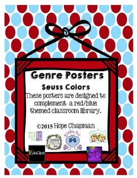 Red and Blue theme Genre Posters