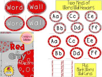 Red and Gray Classroom Decor {The Campus Collection}