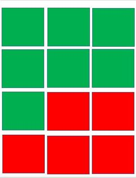 EASY Red and Green Agree / Disagree Squares!