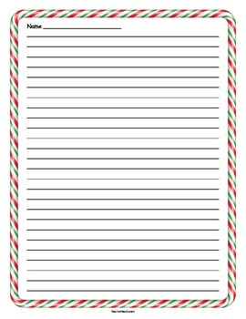 Red and Green Candy Cane Lined Holiday Paper