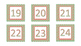 Red and Green Chevron Square Calendar Number Cards