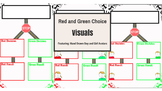 Red and Green Choice Visuals (Featuring Hand Drawn Boy and