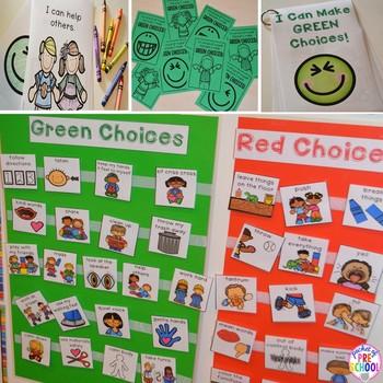 Behavior Management Green and Red Choices Preschool, Pre-K, and Kindergarten