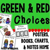 Behavior Management Green and Red Choices Preschool, Pre-K, and Kindergarten