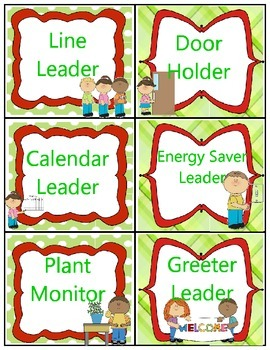 Red and Green Class Job Labels