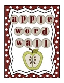 Red and Green Polka Dot Apple Word Wall