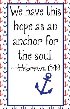 Red and Navy Blue Anchor for the Soul Poster