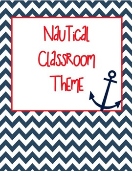 Red and Navy Nautical Classroom Theme EDITABLE