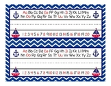 Red and Navy Nautical name desk plates