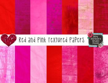 Red and Pink Textured Papers {Freebie}