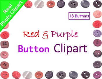 Buttons Red & Purple Real Photo Clipart