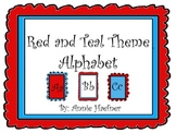 Red and Teal Theme Alphabet