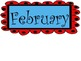 Red and Teal Theme Months of the Year and Calendar Pieces