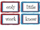Red and Teal Theme Word Wall Cards- Fry List 100-200