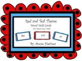 Red and Teal Theme word wall cards- Fry List 1-100