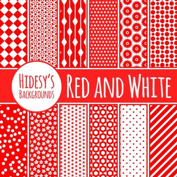 Red and White Backgrounds/ Digital Papers / Patterns Clip Art Commercial Use