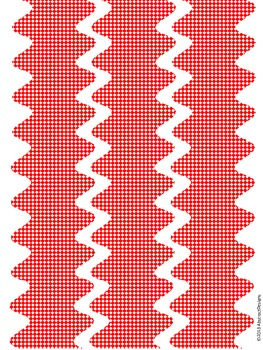 Red and White Border