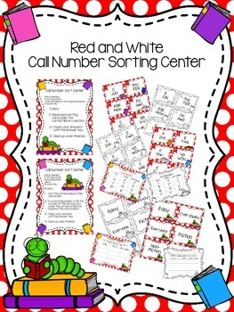 Red and White Call Number Sorting Center