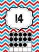 Red and White Chevron Numbers 1-30 Classroom Ten Frames