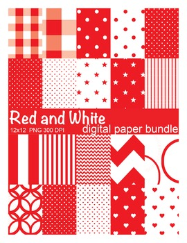 Red and White Digital Paper