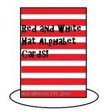 Red and White Hat Alphabet Flash Cards