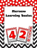Red and White Marzano Learning Scales