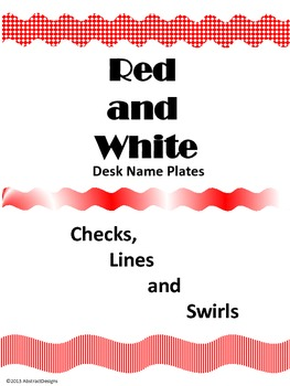 Red and White Name Plates