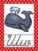 Polka Dot Themed Cursive Alphabet Posters