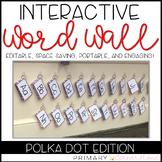 EDITABLE Interactive & Portable Word Wall Books (Polka Dots)