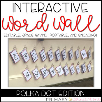 EDITABLE Interactive & Portable Word Wall Books (Polka Dots)