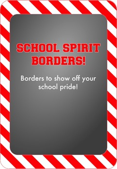 Red and White - School Spirit Borders 9 Pack
