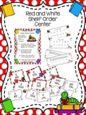 Red and White Shelf Order Center