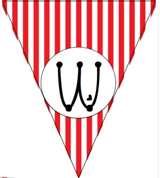 Red and White Stripe Build Your Own Banner Kit
