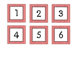 Red and White Stripe Calendar Numbers